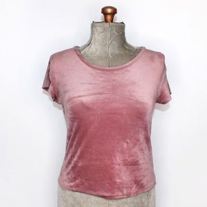 🎀3/$30 Garage Dusty Pink Velour Tee Small